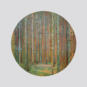 "Gustav Klimt Pine Forest 3.5"" Button"