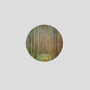 Gustav Klimt Pine Forest Mini Button