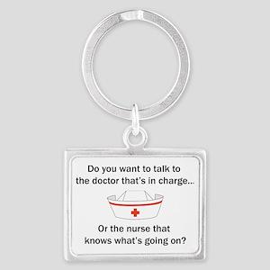 Doctor-Nurse Landscape Keychain