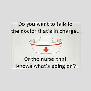 Doctor-Nurse Rectangle Magnet