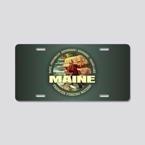 Maine Fly Fishing Aluminum License Plate