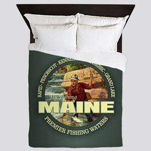 Maine Fly Fishing Queen Duvet