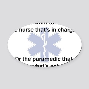 Paramedic-Nurse Oval Car Magnet