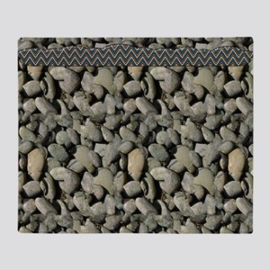 Gray Rocks Throw Blanket
