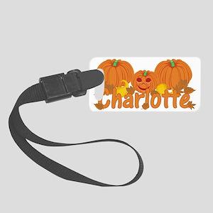 Halloween Pumpkin Charlotte Small Luggage Tag