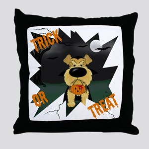 AiredaleHalloweenShirt3 Throw Pillow