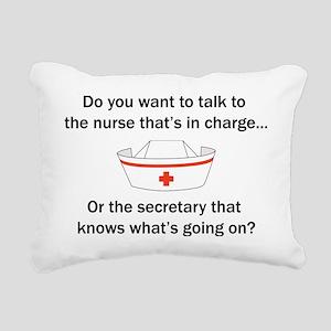 Nurse-Secretary Rectangular Canvas Pillow