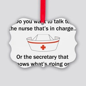 Nurse-Secretary Picture Ornament