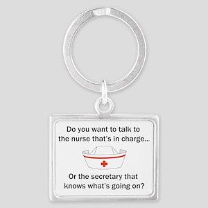 Nurse-Secretary Landscape Keychain