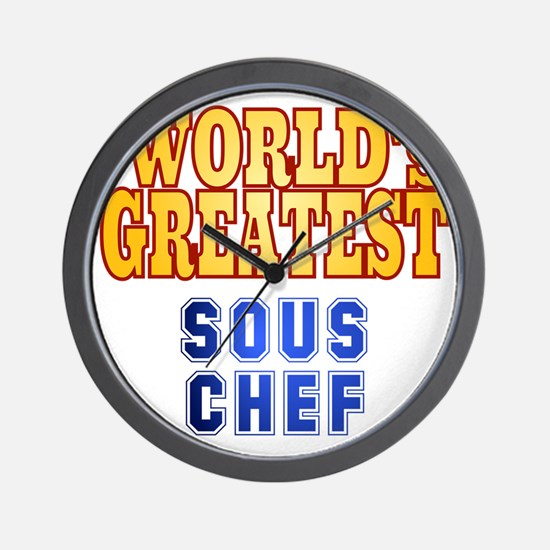 World's Greatest Sous Chef Wall Clock