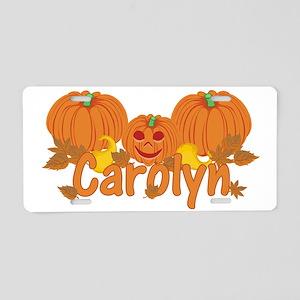 Halloween Pumpkin Carolyn Aluminum License Plate