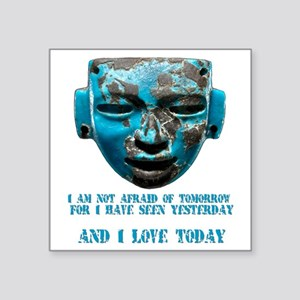 """Teotihuacan mask Square Sticker 3"""" x 3"""""""