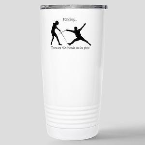 No friends Stainless Steel Travel Mug
