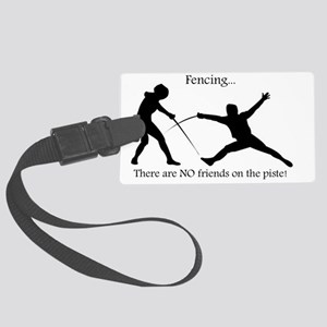 No friends Large Luggage Tag