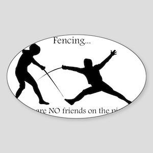 No friends Sticker (Oval)