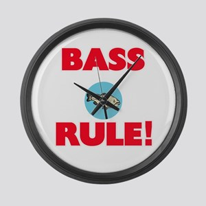 Bass Rule! Large Wall Clock