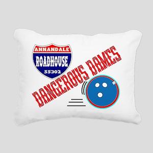 DANGEROUS DAMES Rectangular Canvas Pillow
