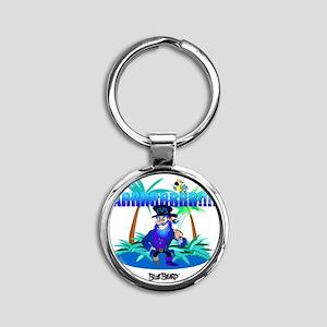 Blue Beard ™ Bib Round Keychain
