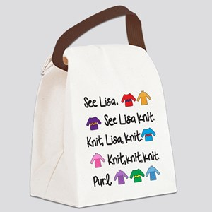 See Lisa Sweater Tote Canvas Lunch Bag
