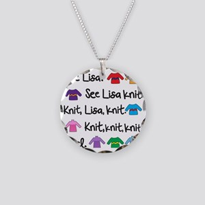 See Lisa Sweater Tote Necklace Circle Charm