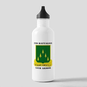 2ndBattalion70thArmor- Stainless Water Bottle 1.0L