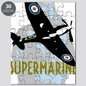 Spitire with ww2 pilot graphic Puzzle