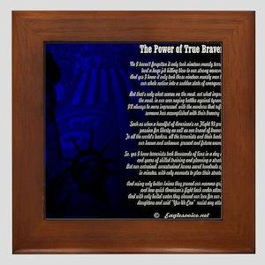The Power of True Bravery Poem Framed Tile