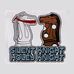 Silent Knight Throw Blanket