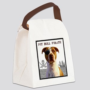 Pit Bull Pirate 2 Canvas Lunch Bag