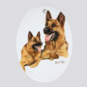 German Shepherd Oval Ornament