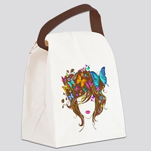 womanhead4 Canvas Lunch Bag
