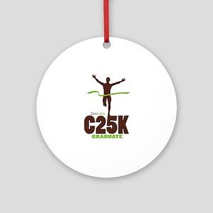 C25K Graduate Round Ornament