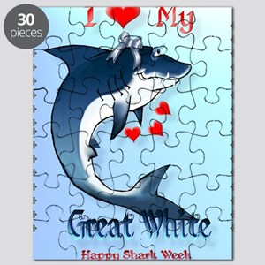 I Love My GREAT WHITE Poster Puzzle