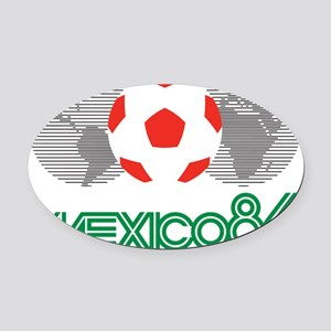 Mexico 86 Oval Car Magnet