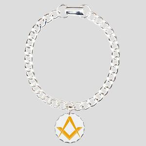 Freemasonry Square and C Charm Bracelet, One Charm