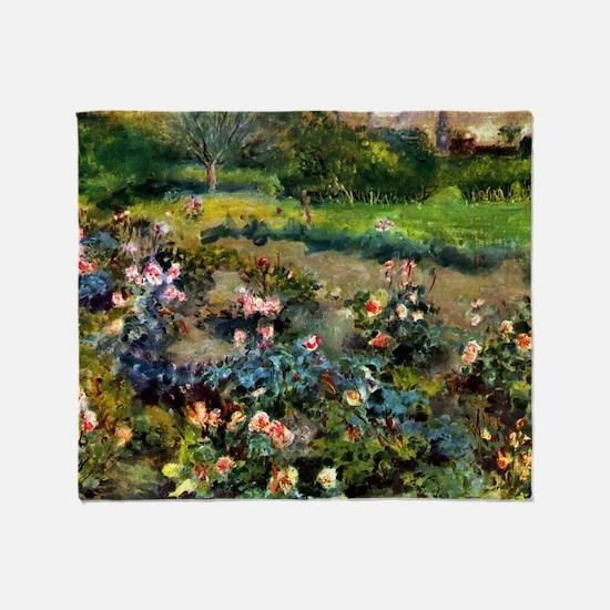 Pierre-Auguste Renoir Rose Grove Throw Blanket