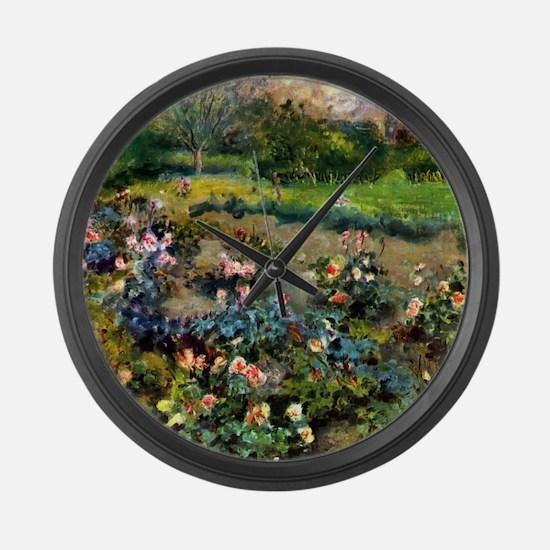 Pierre-Auguste Renoir Rose Grove Large Wall Clock