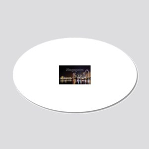 Singapore_2x3_magnet_Skyline 20x12 Oval Wall Decal