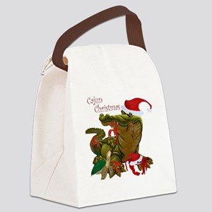 Cajun Christmas Apparel Canvas Lunch Bag