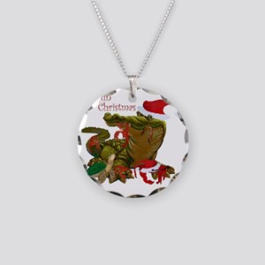 Cajun Christmas Apparel Necklace Circle Charm