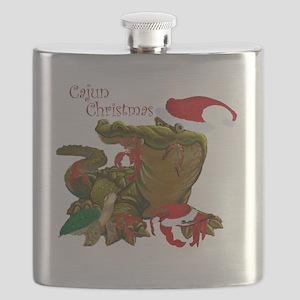 Cajun Christmas Apparel Flask