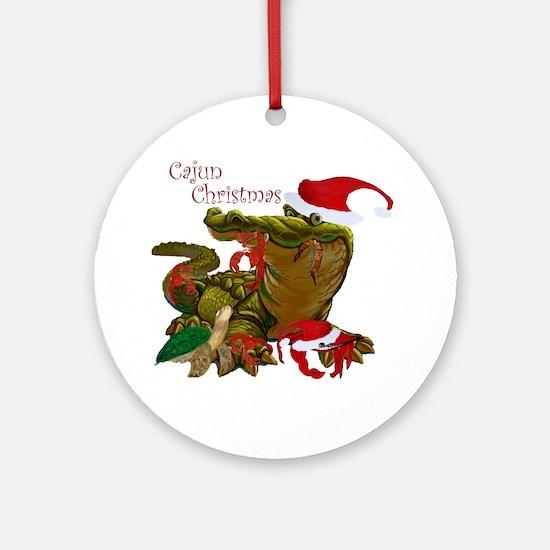 Cajun Christmas Apparel Round Ornament