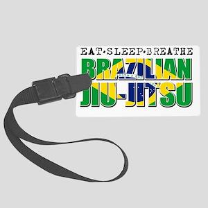 Brazilian Jiu Jitsu designs Large Luggage Tag