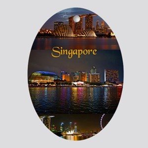Singapore_2.41x4.42_iPhone3GHardCase Oval Ornament