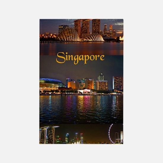 Singapore_2.41x4.42_iPhone3GHardC Rectangle Magnet