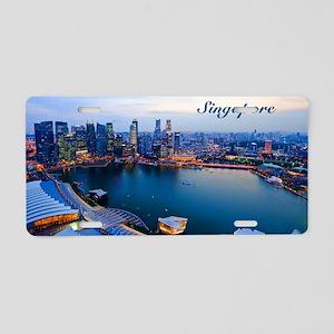 Singapore_5x3rect_sticker_S Aluminum License Plate