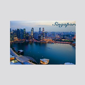 Singapore_5x3rect_sticker_Skyline Rectangle Magnet