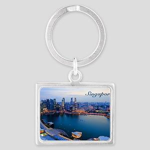 Singapore_5x3rect_sticker_Skyli Landscape Keychain