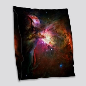 Orion Nebula Burlap Throw Pillow