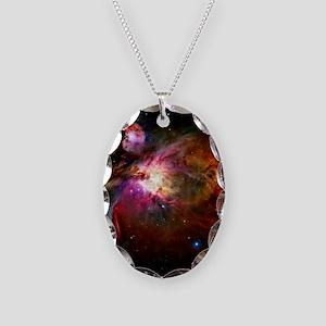 Orion Nebula Necklace Oval Charm